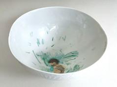 Indigenous bol en porcelaine (detail), 2009, H 7.5 cm, Ø 15 cm  © photographe Ruth Gurvich