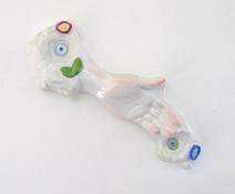Main droite, 2004-2005, porcelaine, 16 x 35 x 7 cm,  © photographe Ruth Gurvich