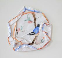 S/T oiseaux II, 2010, aquarelle s/montage en papier, 27.5 x 27.5 cm  © photographe Ruth Gurvich