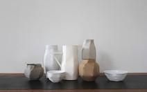 S/t I (série Morandi), 2012, Montage en papier, porcelaine, H 27 cm, L 70 cm, P 40 cm  © photographe Ruth Gurvich