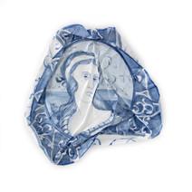 Portrait d'apparat III, 2011-2012, aquarelle s/papier, vernis, 22 x 22 cm  © photographe Pierre Verrier