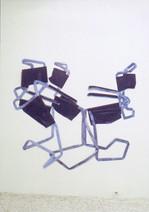 S/T, 2001, acrylique s/montage en papier, 180 x 180 cm  © photographe Galerie Yvonamor Palix