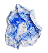 Portrait bleu au dragon, 2010, aquarelle s/papier, 36 x 36 cm  © photographe Ruth Gurvich