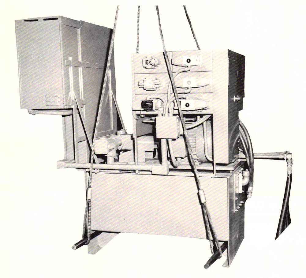 Arter hydraulic unit lifting arrangement