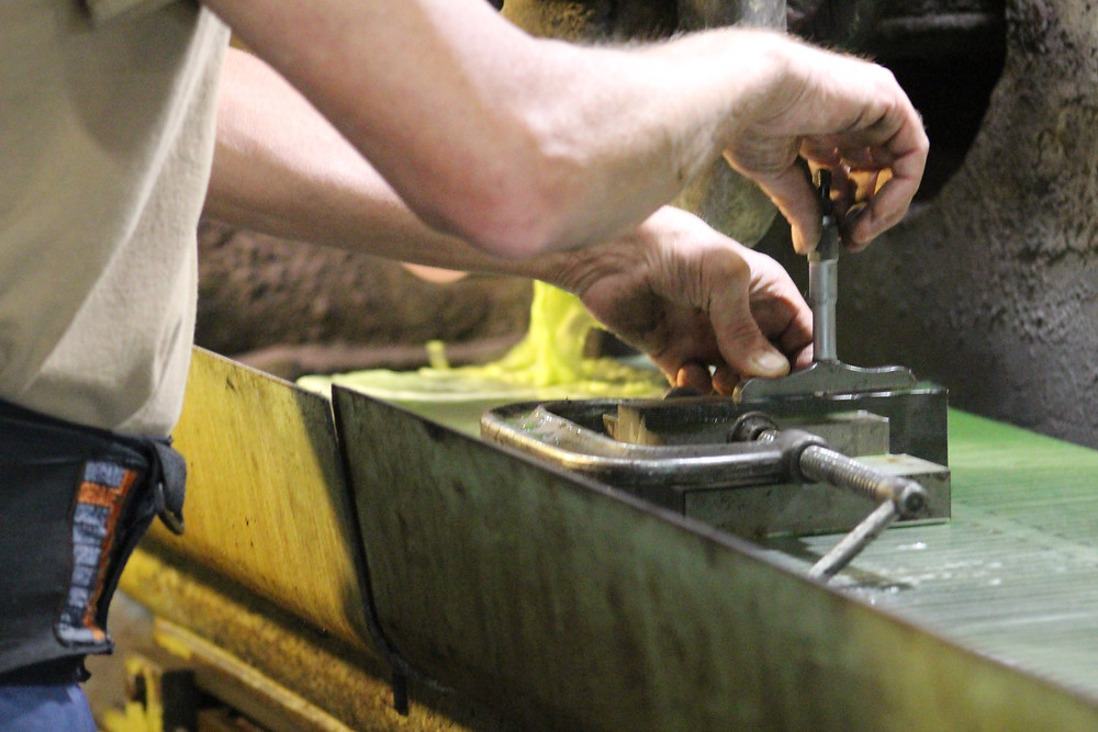 Ensuring your material is secured to your workholding device is essential to safety while grinding