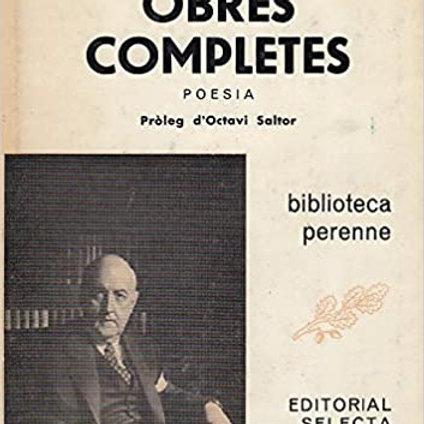 OBRES COMPLETES JOSEP MARIA DE SAGARRA. POESIA. ED.SELECTA. 1981