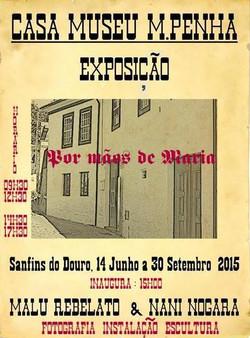 Cartaz da exposição Por Mãos de Maria