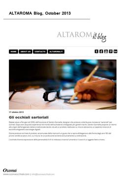 Altaroma Blog October 2013