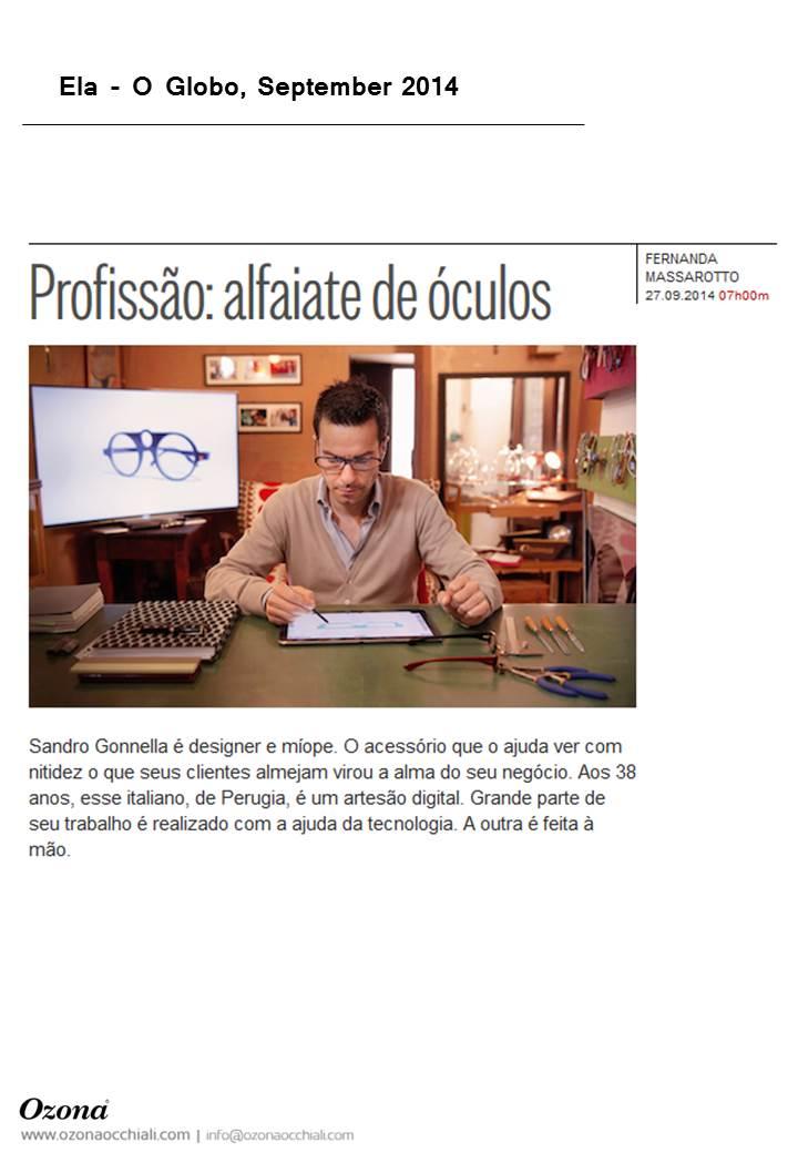 Ela O Globo, September 2014