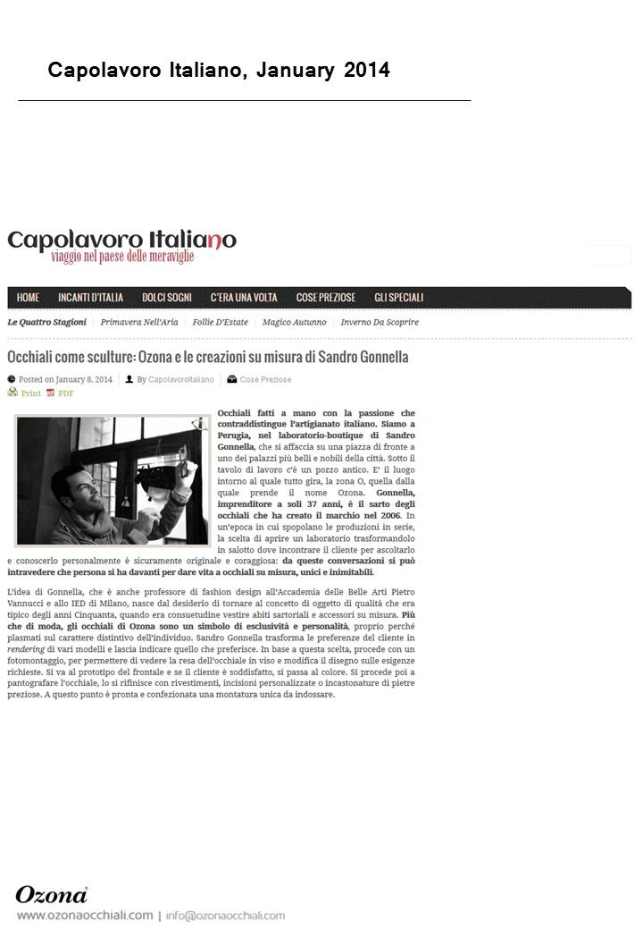 Capolavoro Italiano, January 2014