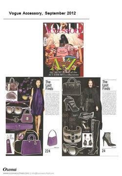 Vogue Accessory, September 2012