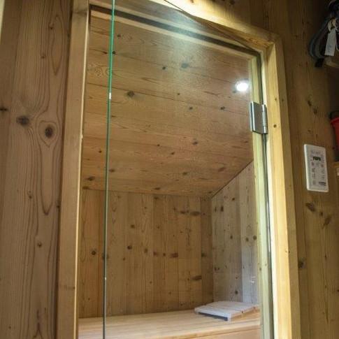 Glastüre Sauna