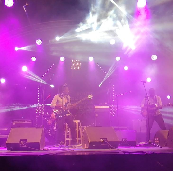 Stéphane Castry sur la scène de la Route du Rhum Festival