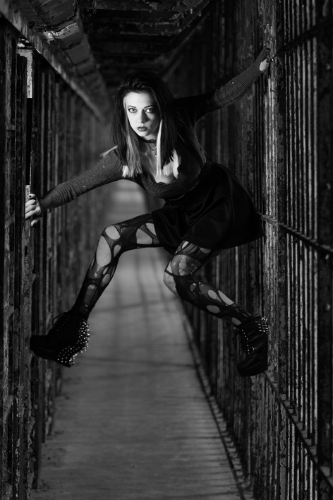 Model: Cassandra Ann Location: Ohio State Reformatory Photographer: Kendra Paige with Spectacular Moments
