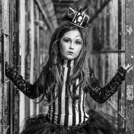 Model: Ariana Jolie Concept: Lisa Hilty Location: Ohio State Reformatory Photographer: Kendra Paige with Spectacular Moments