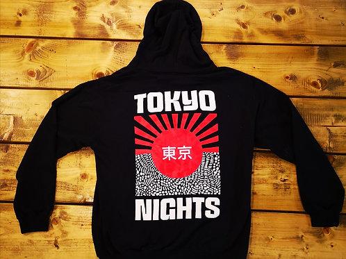 Tokyo Nights zip hoody- Navy
