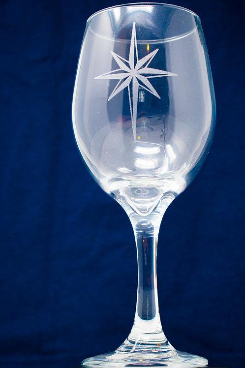 Moravian Star Wine Glass