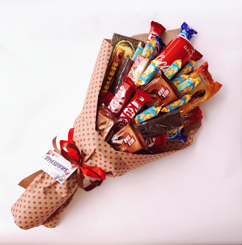 Букеты из шоколадок своими руками