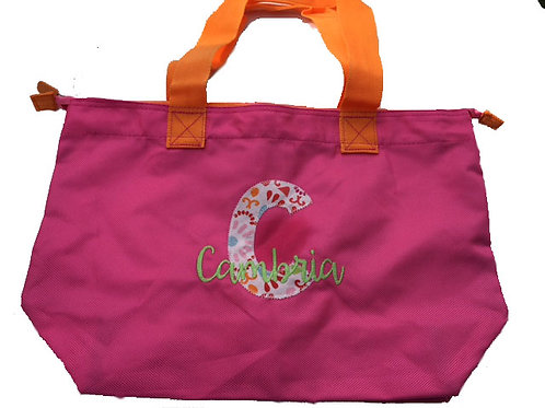Applique Zippered Tote