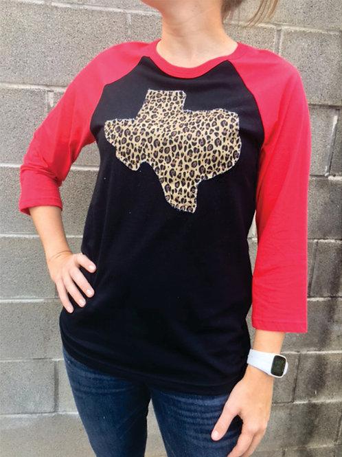 Leopard Texas Raglan