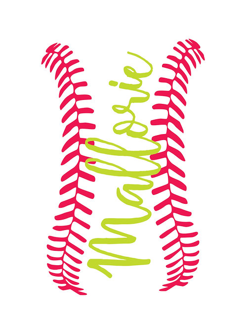 Laces Name Decal