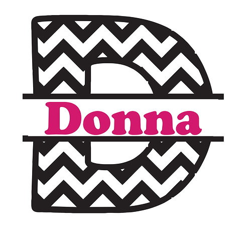 Chevron Letter Decal