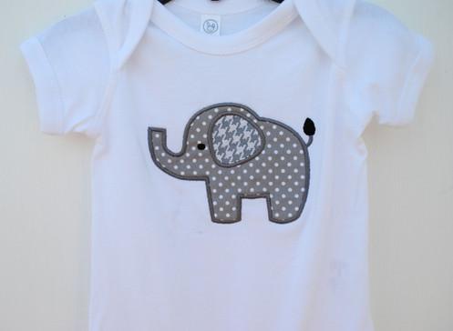 Elephant applique shirt