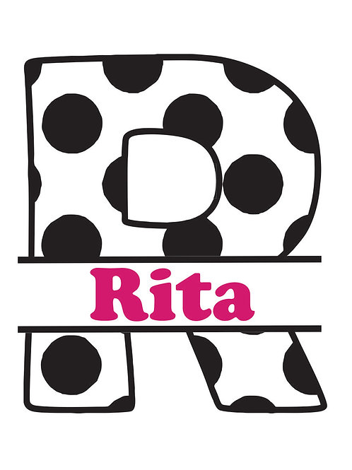 Polka Dot Letter Decal