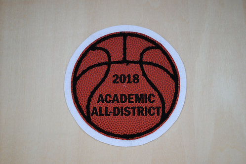 Leather Basketball Patch