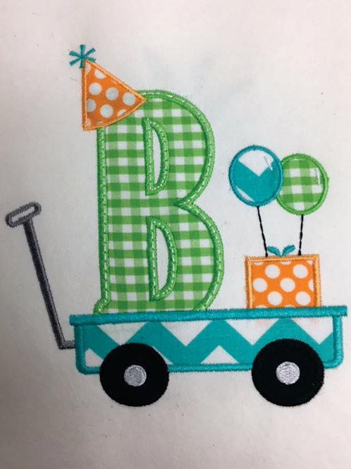 Birthday Wagon Applique
