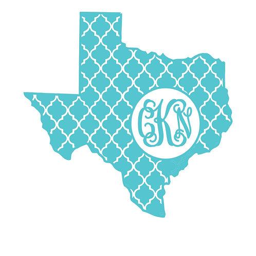 Texas Quatrefoil Decal