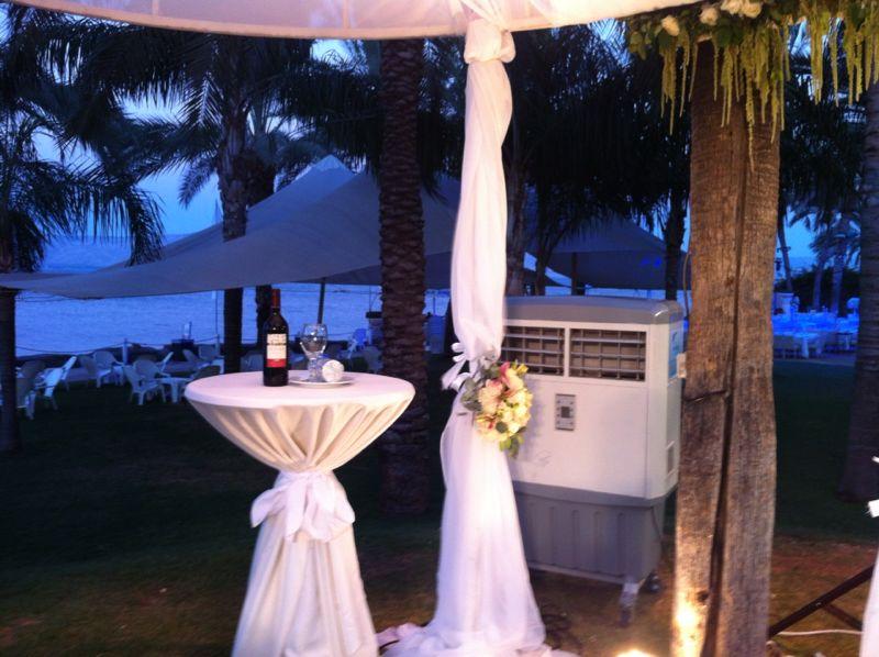 מצנן אוויר בחתונה