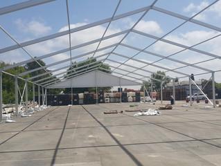 הקמת אוהל 20*50 בזוהר דליה