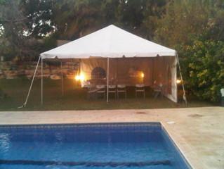 הקמת אוהל שגרירות הודו הרצליה פיתוח
