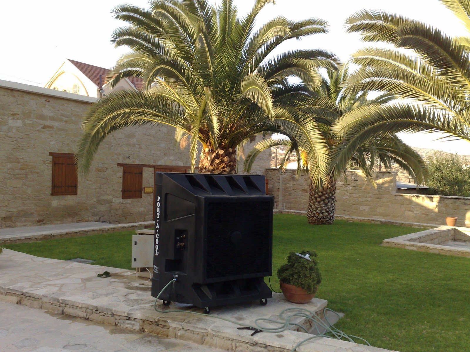 outdoor climate control cyprus evaporative cooling limassol event marquee portable airconditioning
