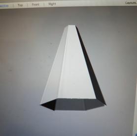 Hexagonal spire 3D rendering