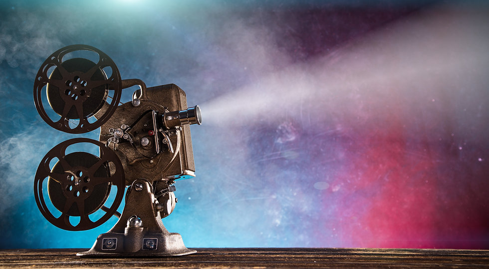 Old style movie projector, still-life, close-up..jpg