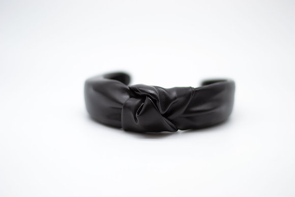 Vegan Leather Headband-black