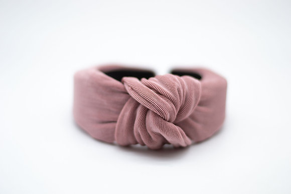 Textured Knit Headband-mauve