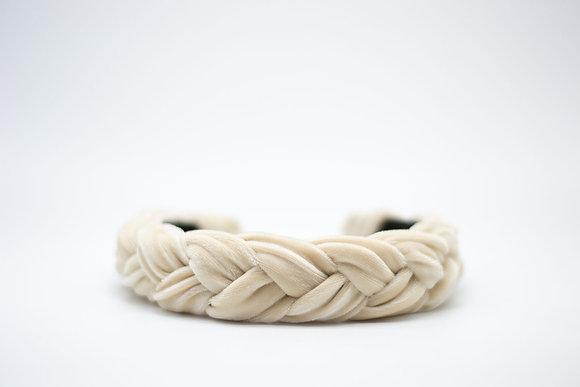 Braided Velvet Headband-fawn