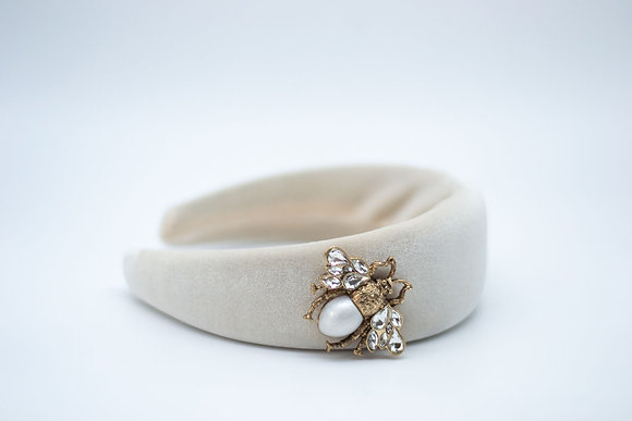 Padded Headband-cream bee