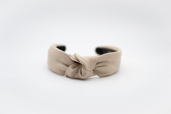 Linen Headband-clay
