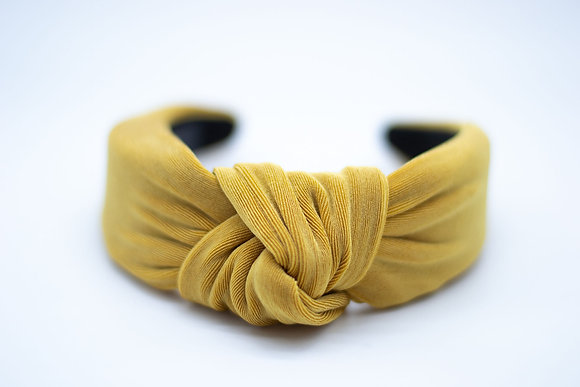 Textured Knit Headband-saffron