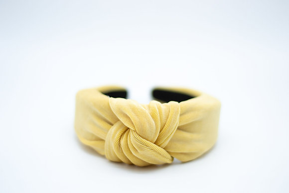 Textured Knit Headband-honey