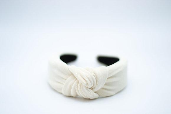 Textured Knit Headband-ivory