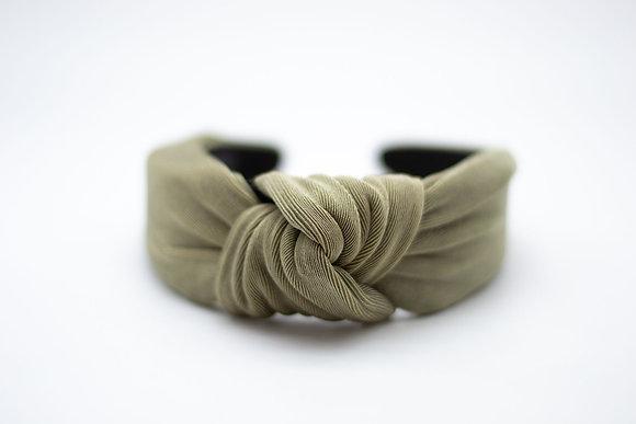 Textured Knit Headband-olive