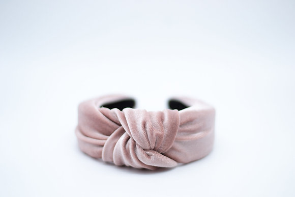 Velvet Headband-dusty rose