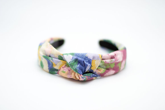 Knotted Headband-revived vintage floral