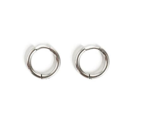 Huggie earrings-silver