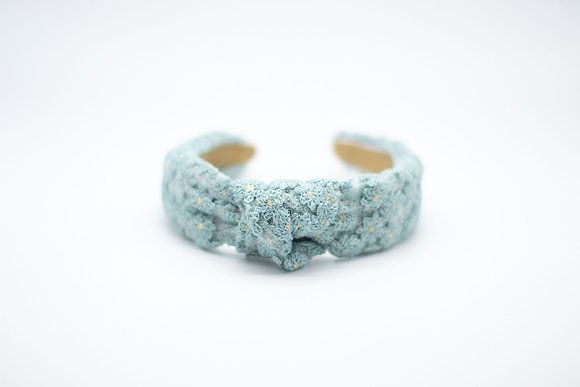Lace Headband-carolina blue